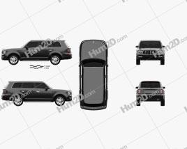 Hongqi LS5 2018 car clipart