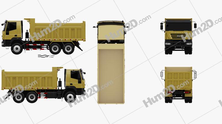 Hongyan Kingkan Powerforce 380 Dump Truck 3-axle 2011