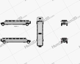 Hummer H2 Limousine 2010 Clipart