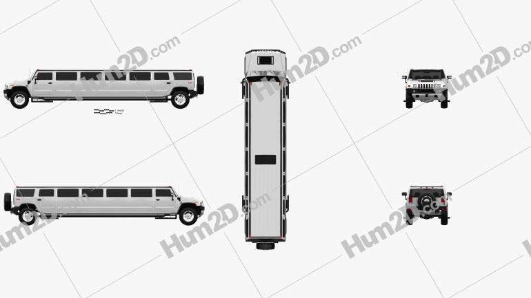 Hummer H2 Limousine 2010 car clipart