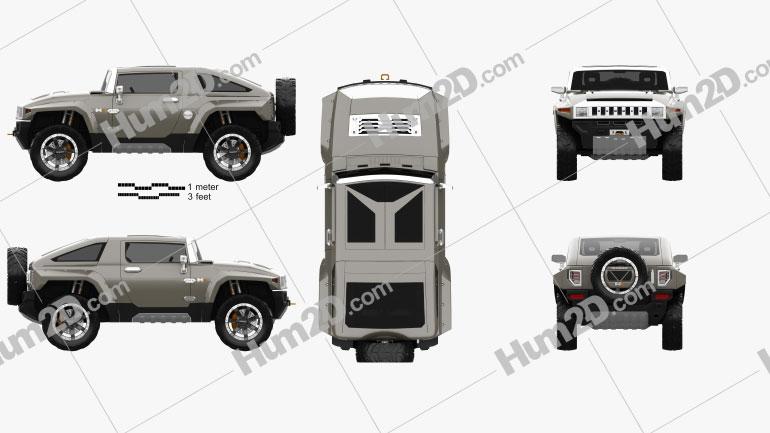 Hummer HX 2008 car clipart