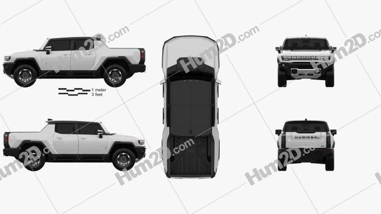 GMC Hummer EV Pickup 2022 car clipart