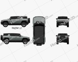 GMC Hummer EV SUV 2023 car clipart