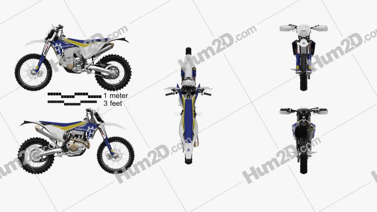 Husqvarna FE 501 Enduro 2017 Motorcycle clipart