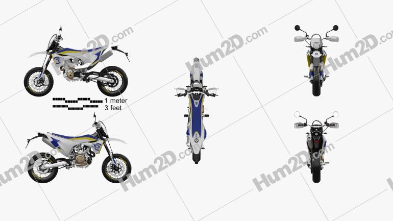 Husqvarna 701 Supermoto 2017 Motorrad clipart
