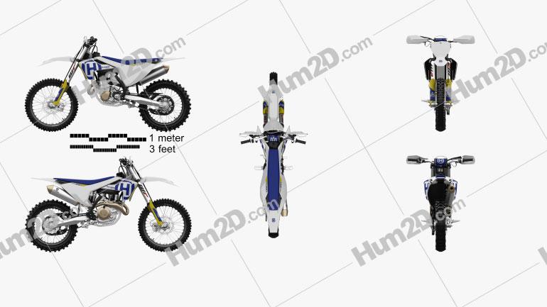Husqvarna FC 450 2017 Motorcycle clipart