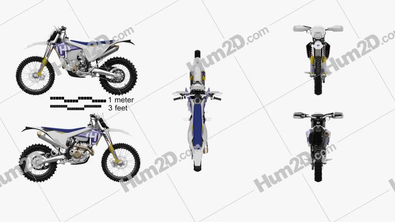 Husqvarna FE 350 2017 Motorcycle clipart