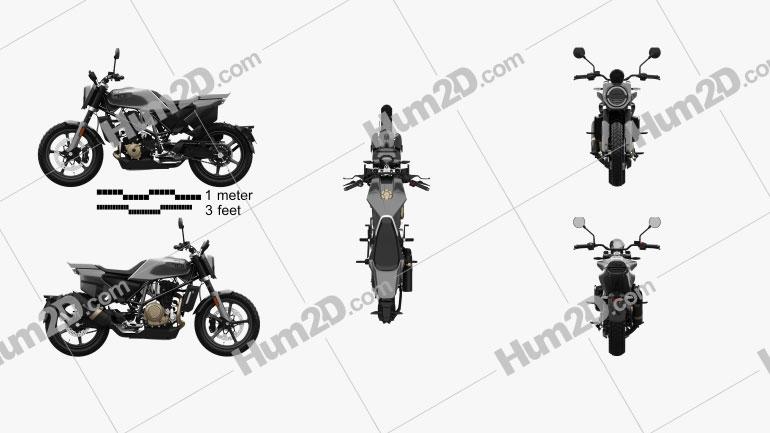 Husqvarna Svartpilen 701 2019 Motorcycle clipart