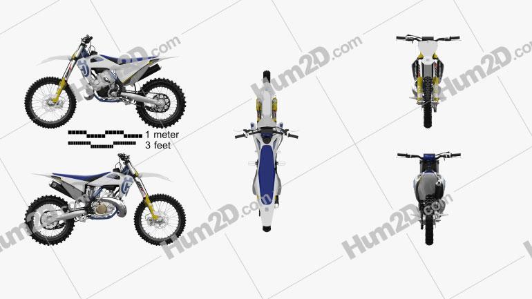 Husqvarna TC 250 2020 Motorcycle clipart
