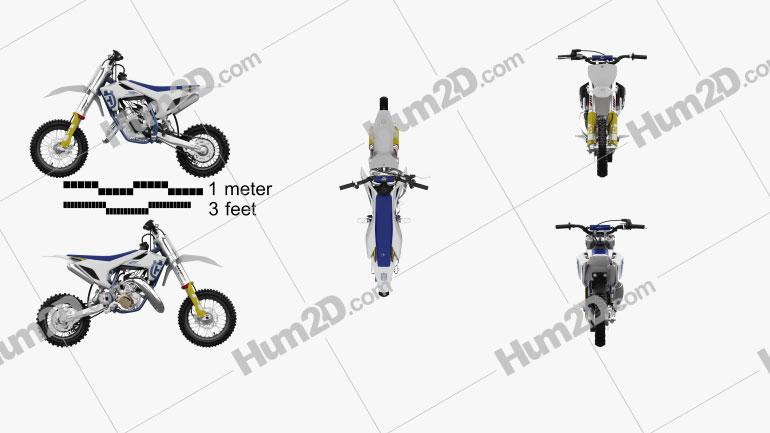 Husqvarna TC 50 2020 Motorcycle clipart