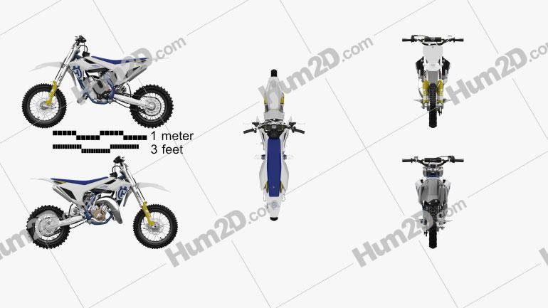 Husqvarna TC 65 2020 Motorcycle clipart