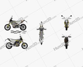 Husqvarna 701 Supermoto 2020 Motorcycle clipart
