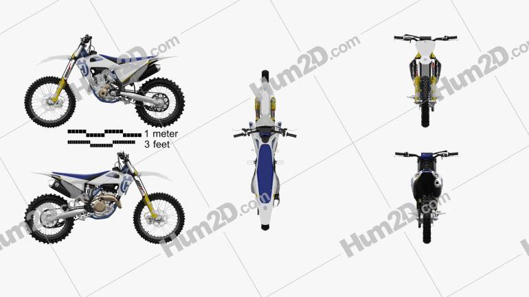 Husqvarna FC 250 2020 Motorcycle clipart