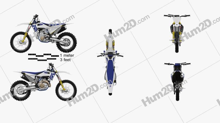 Husqvarna FC 450 2020 Motorcycle clipart