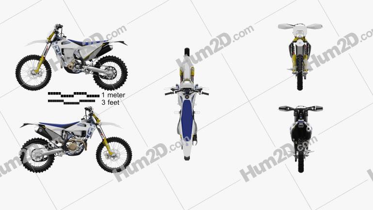 Husqvarna FE 350 2020 Motorcycle clipart