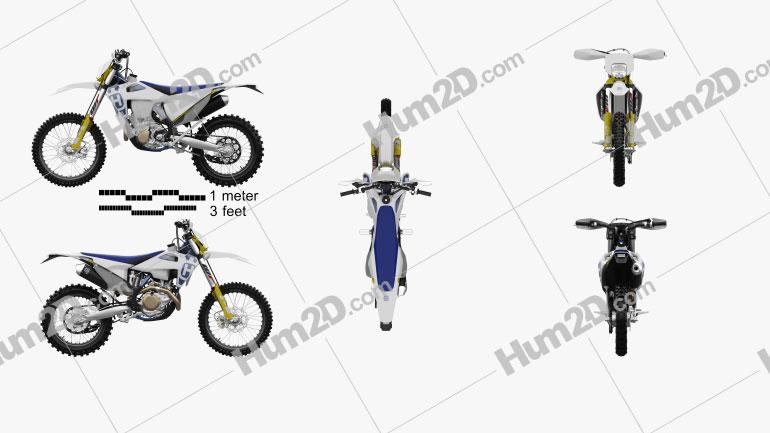Husqvarna FE 450 2020 Motorcycle clipart