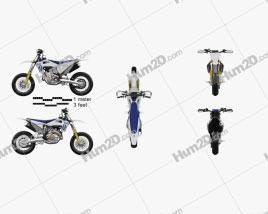 Husqvarna FS 450 2020 Motorcycle clipart