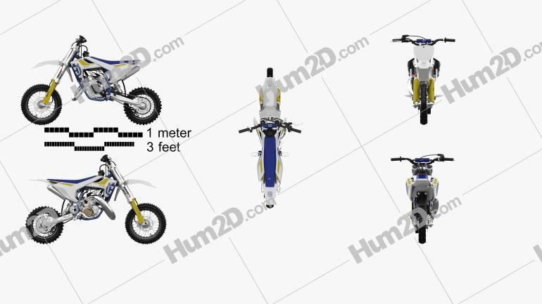 Husqvarna TC 50 2016 Motorcycle clipart