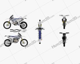 Husqvarna FE501 2017 Motorcycle clipart