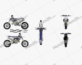 Husqvarna FS450 2016 Motorcycle clipart