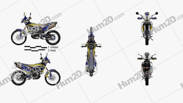 Husqvarna Rally 701 2017 Motorcycle clipart