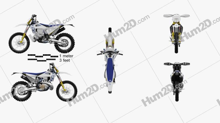 Husqvarna TE250i 2020 Motorcycle clipart