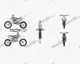Husqvarna TC 85 2014 Motorcycle clipart