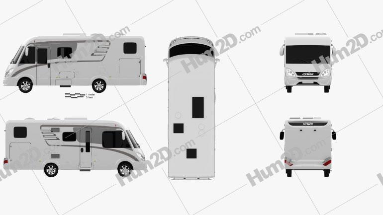 Hymer ML-I Bus 2015 clipart