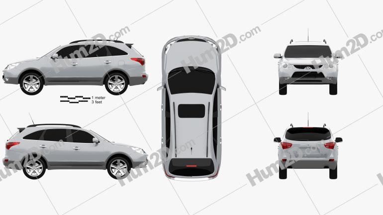 Hyundai ix55 Veracruz 2011 Clipart Image