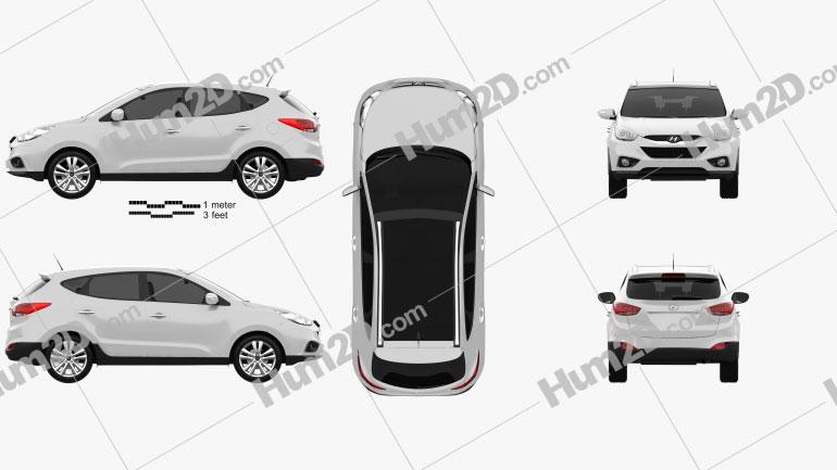 Hyundai ix35 Tucson Clipart Image