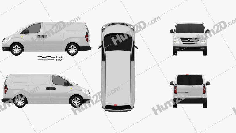 Hyundai H1 iLoad 2010 Clipart Bild
