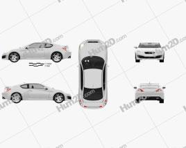 Hyundai Genesis Coupe 2011 Clipart
