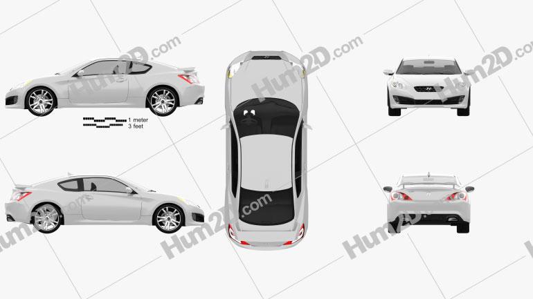 Hyundai Genesis Coupe 2011 Clipart Image