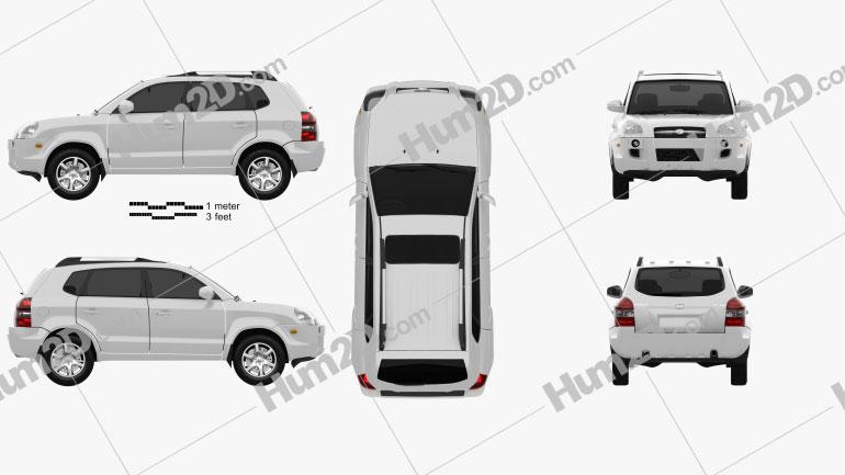 Hyundai Tucson 2006 car clipart
