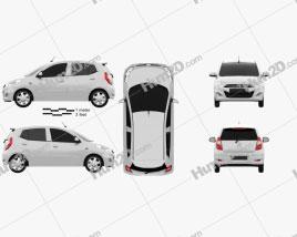 Hyundai i10 2011 car clipart