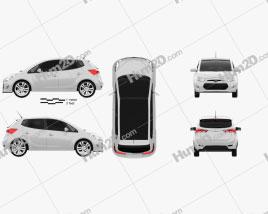 Hyundai ix20 2011 car clipart