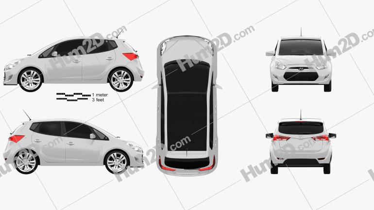 Hyundai ix20 2011 Clipart Image