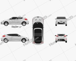 Hyundai Veloster 2012 car clipart
