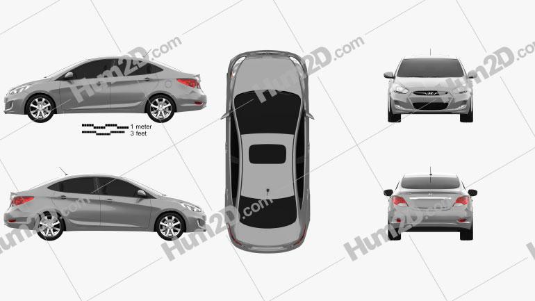 Hyundai Accent (i25) Sedan 2012 car clipart