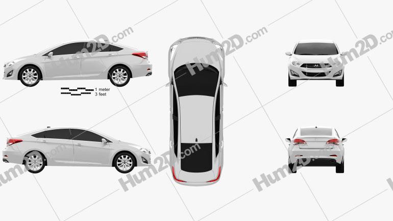 Hyundai i40 sedan 2012 car clipart