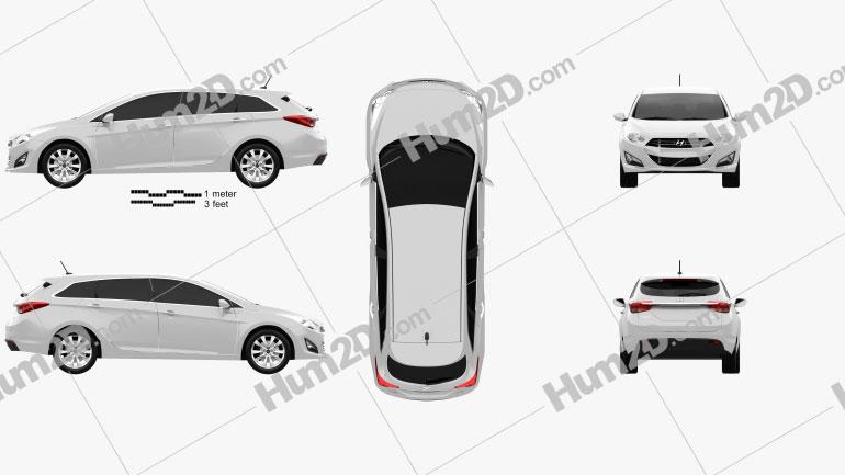 Hyundai i40 Tourer 2012 car clipart