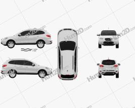 Hyundai Santa Fe 2007 car clipart