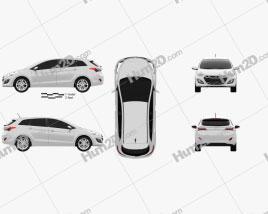 Hyundai i30 (Elantra) Wagon 2013 car clipart