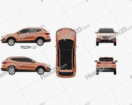 Hyundai Santa Fe Sport 2013 car clipart