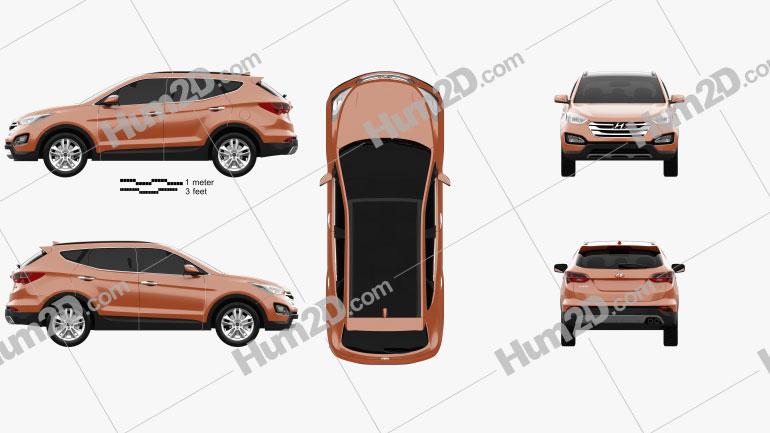 Hyundai Santa Fe Sport 2013 Clipart Image