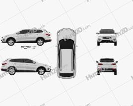 Hyundai Santa Fe 2012 car clipart