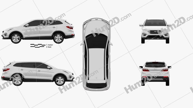 Hyundai Santa Fe 2012 Clipart Image