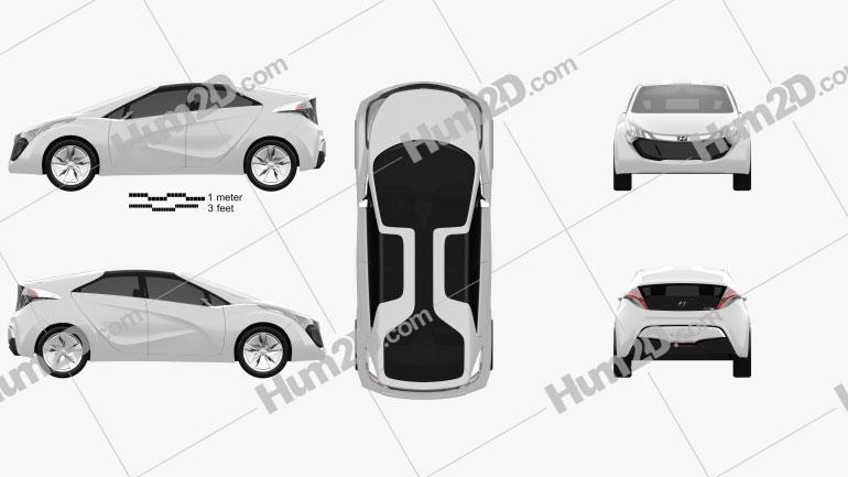 Hyundai Blue-Will 2010 Clipart Image