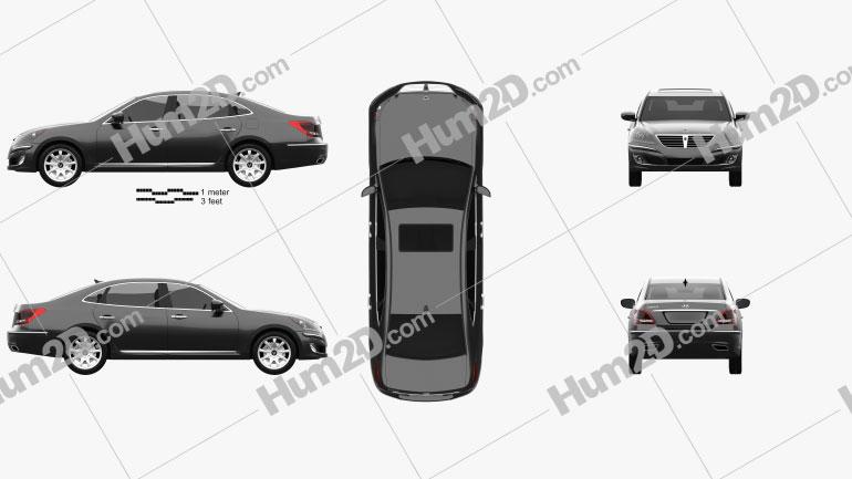 Hyundai Equus 2012 Clipart Image