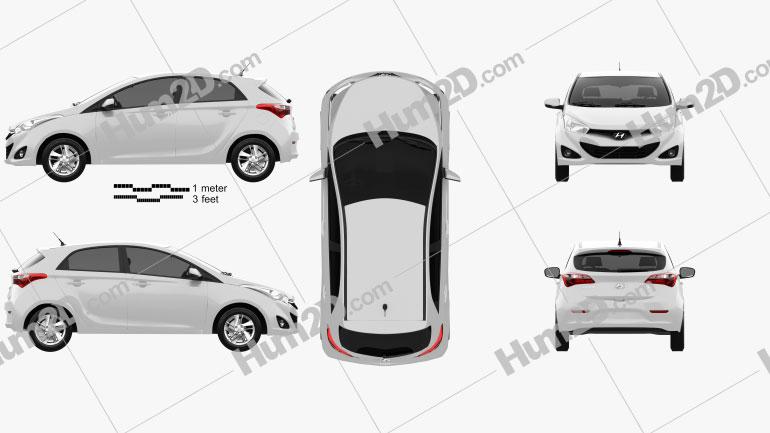Hyundai HB20 2013 car clipart
